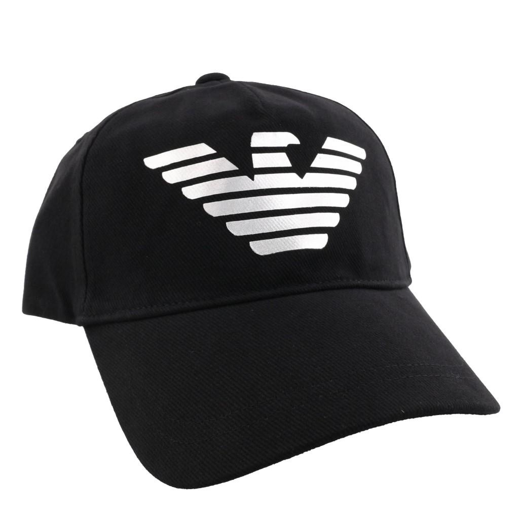 reputable site 89081 3d9de エンポリオアルマーニ キャップ 帽子 メンズ ブラック 627508 ...