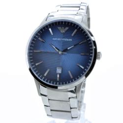204406bc7d EMPORIO ARMANI(エンポリオ アルマーニ) エンポリオアルマーニ 腕時計 メンズ AR2472 ネイビー クラシック